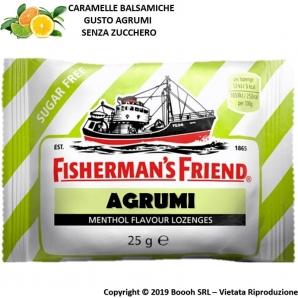 FISHERMAN'S FRIEND CARAMELLE BALSAMICHE GUSTO AGRUMI E MENTOLO SENZA ZUCCHERO - BUSTINE SFUSE 1,49€