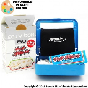 ATOMIC ROLLATORE TABACCHIERA PER CARTINE CORTE - BOX ROLLING IN METTALO | COLORI ASSORTITI 5,49 €
