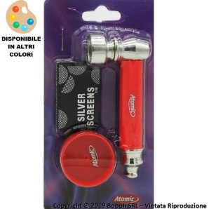 PIPETTA IN PLASTICA RIGIDA MONOCROMO - 6 COLORI ASSORTITI - BLISTER CON 5 RETINE DI RICAMBIO + MINI GRINDER | IDEA REGALO 4,60 €