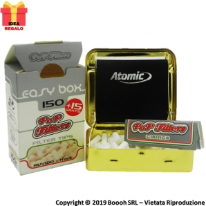 ATOMIC BOX ROLLATORE ORO PER CARTINE CORTE - 1 MACCHINETTA + OMAGGI POP FILTERS 5,29 €