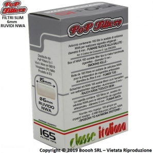 POP FILTERS FILTRI NWA RUVIDI SLIM 6MM - 1 ASTUCCIO DA 165 FILTRINI 0,69€