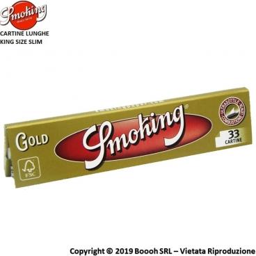 SMOKING CARTINE GOLD KING SIZE SLIM LUNGHE ORO - LIBRETTI SFUSI