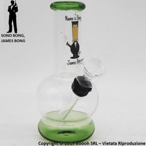MINI BONG GRAFICA JAMES BONG - MATERIALE VETRO ALTEZZA 12,5cm | OTTIMA IDEA REGALO FUMATORE 12,61€