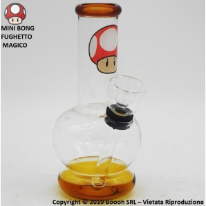 MINI BONG FANTASIA FUNGHETTO SUPER MARIO - MATERIALE VETRO ALTEZZA 12,5cm | OTTIMA IDEA REGALO FUMATORE 12,61€
