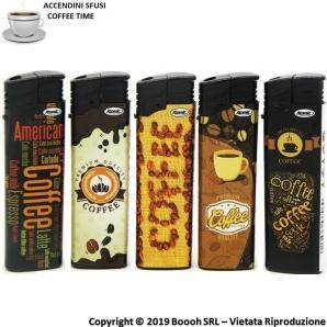ACCENDINI ELETTRONICI ACCENSIONE A SCATTO PIEZO - COFFEE TIME | ACCENDINI SFUSI RICARICABILI E CON FIAMMA REGOLABILE 0,99€