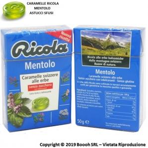 RICOLA CARAMELLE SVIZZERE AL MENTOLO - ASTUCCI SFUSI 1,59€