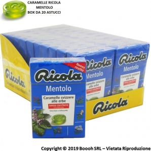 CARAMELLE RICOLA AL MENTOLO DELLE 13 ERBE SVIZZERE - CONFEZIONE DA 20 ASTUCCI 1,59 €