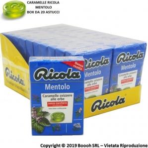CARAMELLE RICOLA AL MENTOLO DELLE 13 ERBE SVIZZERE - CONFEZIONE DA 20 ASTUCCI 1,59€