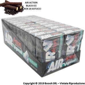 AIR ACTION VIGORSOL BLACK ICE CHEWING GUM ALLA LIQUIRIZIA - CONFEZIONE DA 20 ASTUCCI 29,49 €