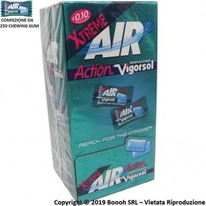 CHEWING GUM AIR ACTION VIGORSOL EXTREME GOMME DA MASTICARE MONO - BOX DA 250 MONODOSI DI GOMME DA MASTICARE 23,99€