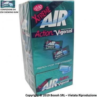 CHEWING GUM AIR ACTION VIGORSOL EXTREME GOMME DA MASTICARE MONO - BOX DA 250 MONODOSI DI GOMME DA MASTICARE
