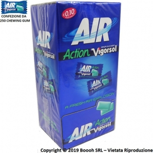 AIR ACTION VIGORSOL ORGINAL CHEWING GUM - GOMME DA MASTICARE MONO PEZZO | BOX DA 250 MONODOSI 23,99 €