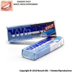 VIVIDENT WHITE FRESH PEPPERMINT GOMME DA MASTICARE - CHEWING GUM IN STICK SFUSI 0,89 €