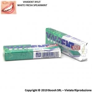 VIVIDENT XYLIT WHITE FRESH SPEARMINT CHEWING GUM - STICK SFUSI DI GOMME DA MASTICARE 0,89€