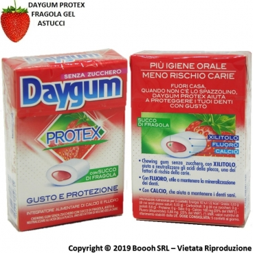 DAYGUM PROTEX CHEWING GUM GUSTO FRAGOLA - 2 ASTUCCI