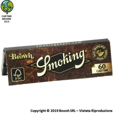 SMOKING CARTINE BROWN UNBLEACHED CORTE SINGOLE - LIBRETTO SINGOLO