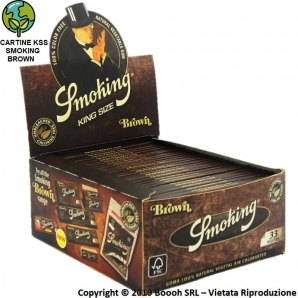 CARTINE SMOKING BROWN KING SIZE SLIM SENZA CLORO LUNGHE ECO - BOX DA 50 LIBRETTI 39,96 €