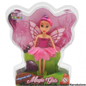 FATINA MAGICA - BAMBOLA CAPELLI E VESTITINO ROSA MAGIC GIRLS | IDEA REGALO BIMBA 11,98 €
