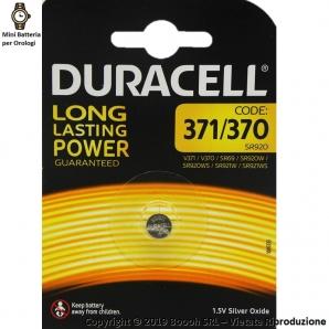 DURACELL 371/370 OSSIDO DI ARGENTO 1,5V - BLISTER DA 1 BATTERIA 1,99€