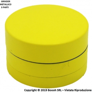 GRINDER SUPERFICIE IN SILICONE GIALLO - TRITATABACCO METALLICO DIVISIBILE IN 3 PARTI 8,98 €