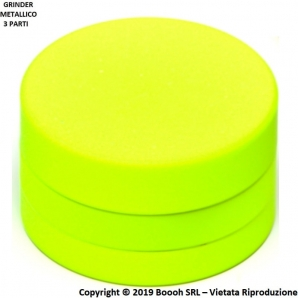 GRINDER SUPERFICIE IN SILICONE GIALLO FLUO - TRITATABACCO METALLICO DIVISIBILE IN 3 PARTI 8,98 €