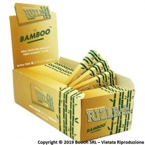 CARTINE CORTE RIZLA BAMBOO SINGOLE REGULAR SIZE - CONFEZIONE DA 50 LIBRETTI DA 50 CARTINE 18,74€