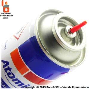 RICARICA REFIL GAS PER ACCENDINI / ACCENDIGAS / ACCENDIBBQ A GAS BUTANO - BOMBOLETTA DA 300ml 2,99€