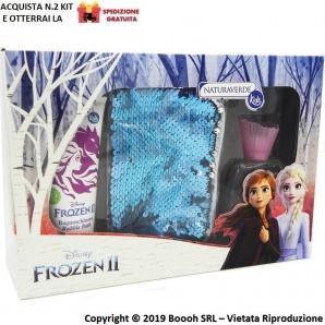 FROZEN II COFANETTO REGALO GIFT SET POCHETTE GIRABRILLA - PROFUMO 50ml + BAGNOSHIUMA 100ml + BORSETTA | NATURA VERDE KIDS 11,...