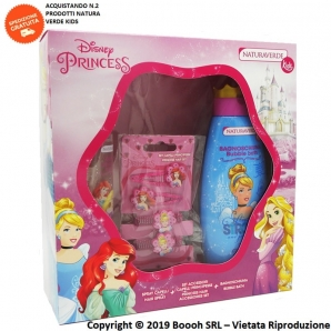 PRINCIPESSE DISNEY HAIR BEAUTY COFANETTO REGALO SET : PROFUMO 50ml + BAGNOSHIUMA 100ml + BORSETTA | NATURA VERDE KIDS 11,79€