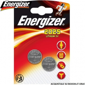 ENERGIZER PILE DL CR 2025 BATTERIE LITIO 3V SPECIALISTICHE - BLISTER 2 BATTERIE A BOTTONE 1,99 €