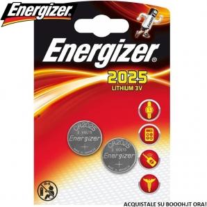 ENERGIZER PILE DL CR 2025 BATTERIE LITIO 3V SPECIALISTICHE - BLISTER 2 BATTERIE A BOTTONE 1,99€