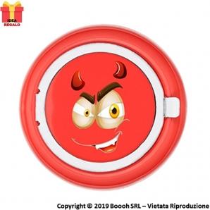POSACENERE TASCABILE RED EMOJI DEVIL BOY - MANGIA FUMO IN ALLUMINIO CIRCOLARE | APERTURA A SCOMPARSA 3,99€