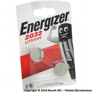ENERGIZER BATTERIE DL CR 2032 LITIO 3V SPECIALISTICHE - BLISTER 2 PILE A BOTTONE 2,49€