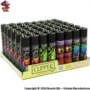 ACCENDINI CLIPPER LARGE WONDERWORLD PSYCHEDELIC MUSHROOMS - BOX DA 48 PEZZI RICARICABILI 45,99 €