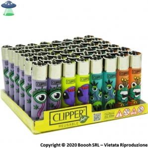 ACCENDINI CLIPPER LARGE MONSTER WEED 2 - BOX DA 48 PEZZI RICARICABILI 45,99 €