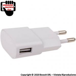 ADATTARORE USB BIANCO CARICABATTERIE PRESA DA MURO - 1 PORTA USB | SPEDIZIONE GRATUITA 12,49€