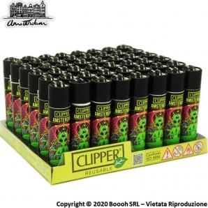 ACCENDINI CLIPPER TRIPPY ALIENS AMSTERDAM LIMITED EDITION - COLLEZIONE OLANDESE | BOX DA 48 PEZZI RICARICABILI 45,99€
