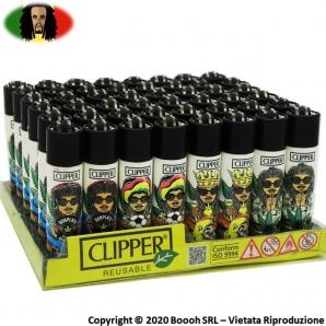 ACCENDINI CLIPPER RASTAMAN AMSTERDAM LIMITED EDITION - COLLEZIONE OLANDESE | BOX DA 48 PEZZI RICARICABILI 45,99€