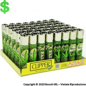ACCENDINI CLIPPER DOLLAR LEAVES - CONFEZIONE DA 48 ACCENDINI GRANDI RICARICABILI 45,99€