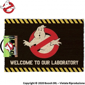 ZERBINO GHOSTBUSTERS WELCOME TO THE OUR LABORATORY - TAPPETINO ORIGINALE ACCHIAPPA FANTASMI | IDEA REGALO 19,99 €