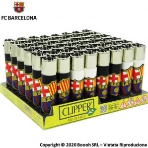 ACCENDINI CLIPPER BARCELLONA FC LIMITED EDITION - COLLEZIONE SPAGNOLA | BOX DA 48 PEZZI RICARICABILI 45,99€