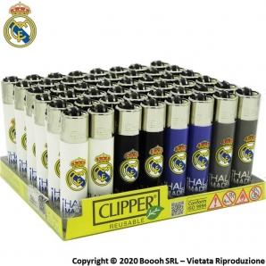 ACCENDINI CLIPPER REAL MADRID FC LIMITED EDITION - COLLEZIONE SPAGNOLA | BOX DA 48 PEZZI RICARICABILI 45,99€