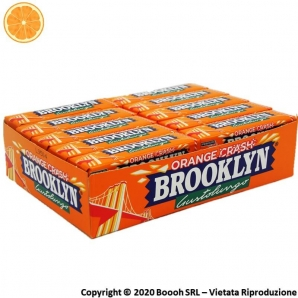 BROOKLYN ORANGE CRASH CHEWING GUM IN LASTRINE AL GUSTO DI ARANCIA - CONFEZIONE DA 20 STICK 15,99 €