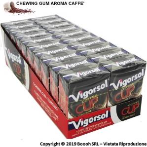 VIGORSOL COFFEE CUP CHEWING GUM - GOMME DA MASTICARE AL GUSTO DI CAFFE' | CONFEZIONE DA 20 ASTUCCI 29,89€