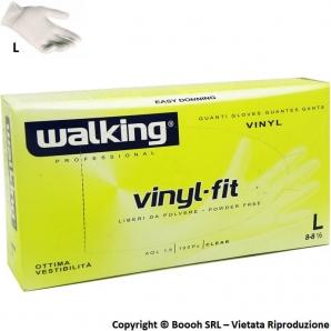 GUANTI VINILE WALKING ANALLERGICI TAGLIA L GRANDE - DISPOSITIVO MEDICO NON STERILE | CONFEZIONE DA 100 PEZZI 5,99€