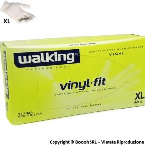 GUANTI VINILE WALKING ANALLERGICI TAGLIA XL GRANDI - DISPOSITIVO MEDICO NON STERILE | CONFEZIONE DA 100 PEZZI 5,99€
