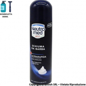 SCHIUMA DA BARBA NEUTRO MED 5.5pH (EX SQUIBB) ULTRARAPIDA CON LANOLINA ANTI ARROSSAMENTO - BOMBOLETTA 300ml 2,99 €