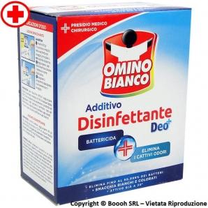 OMINO BIANCO ADDITIVO IGIENIZZANTE IN POLVERE BATTERICIDA CON FORMULA DEO+ | CARTONE DA 450gr 4,43€