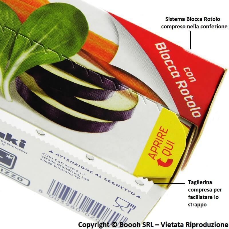 12 Rotoli da Mt 15 Pellicola Trasparente Super Aderente per Alimenti Cuki