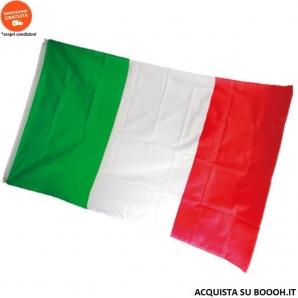 BANDIERA ITALIANA TRICOLORE 150x90cm CON OCCHIELLI IN METALLO - CONFEZIONE DA 1 BANDIERA IDEALE PER ESTERNI 9,36€